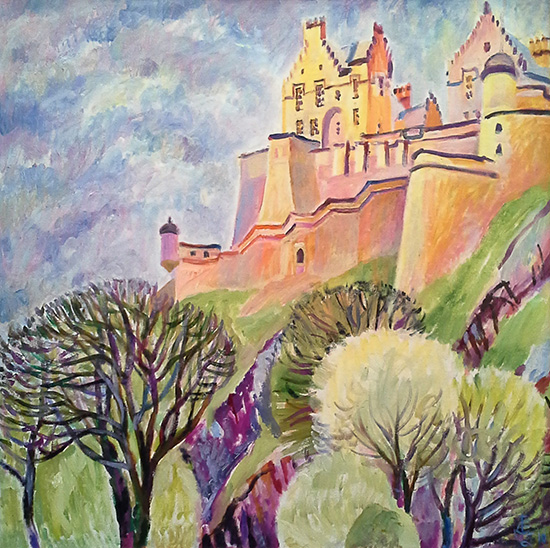 Edinburgh castle61x61cm - 2010