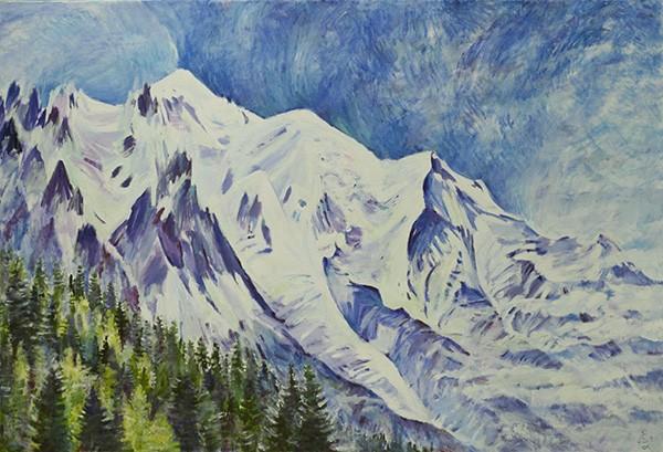 Mont Blanc100x150cm - 2011