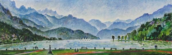 Озеро в Анси40x120см - 2011