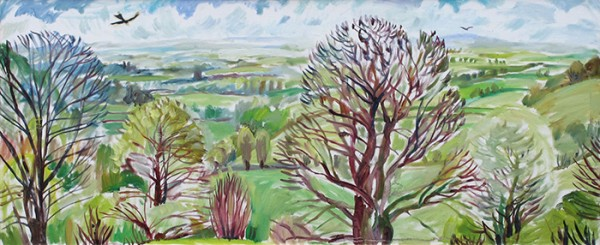 View from a hill50x120cm - 2011