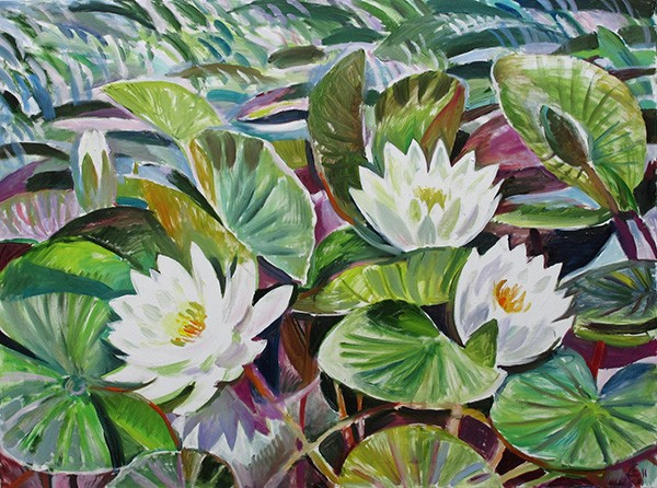 Water lilies76x101cm - 2011