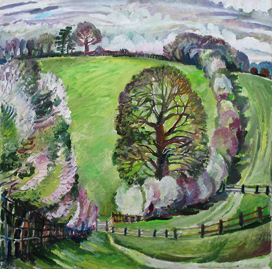 Oak and blackthorn76x76cm - 2011