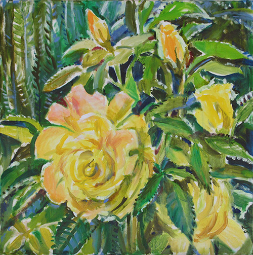 Yellow rose60x60cm - 2012