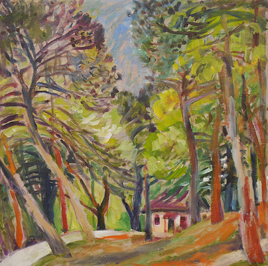 Pines of Istria60x60cm - 2012