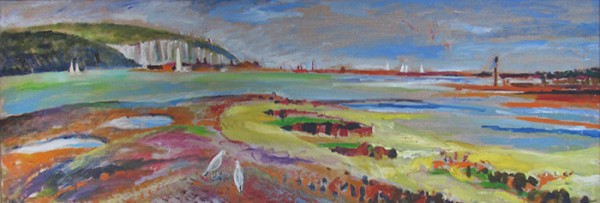Low tide in the Solent40x120cm - 2013