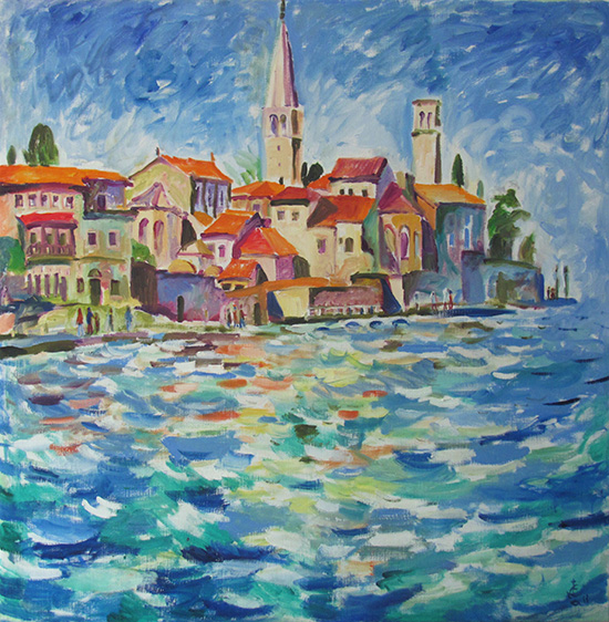 Poreč a year later80x80cm - 2013
