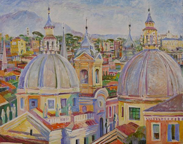 Roman rooftops80x100cm - 2015