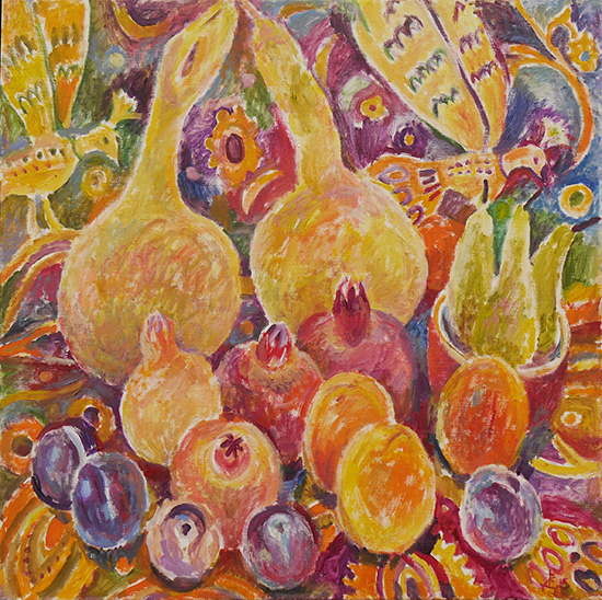Two gourds60x60cm - 2015
