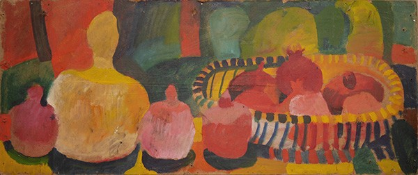 Fruits, a calabash and cacti 132x77cm - 1985