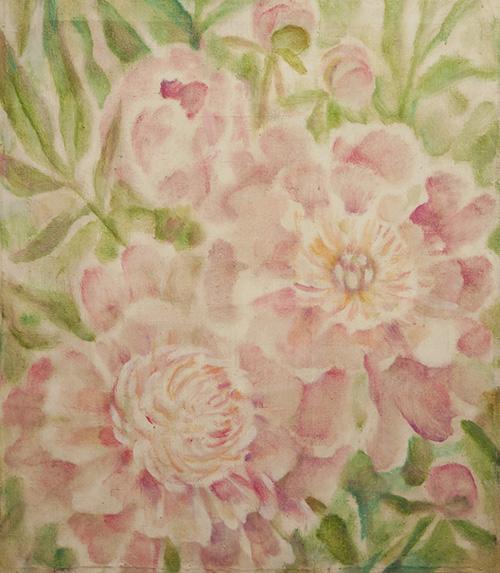 Розовые пионы60x50см - 1990