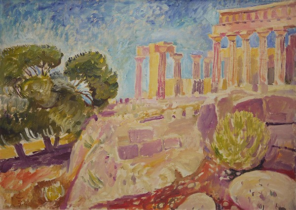 The temple on Aegina Attai50x70cm - 2007